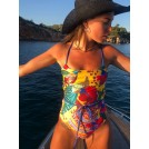 YELLOW PEAFOWL SWIMSUIT | Libelloula women fashion and accessories