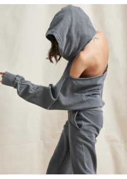 ANDRIA HOODIE GREY | Libelloula women fashion and accessories