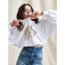 DARIA SWEATSHIRT WHITE WITH FLY | Libelloula women fashion and accessories