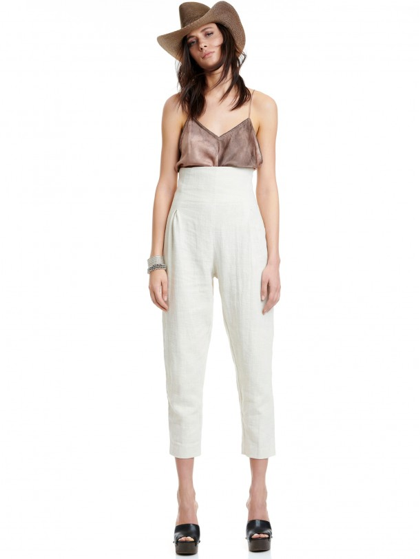 RAMMIE PANTS OFF WHITE | Libelloula women fashion and accessories