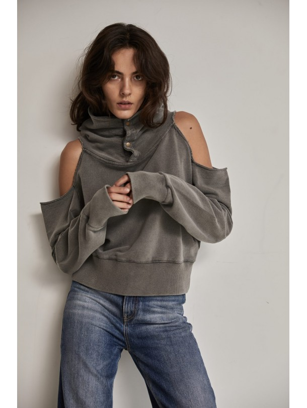 TOM SWEATSHIRT GREY | Libelloula women fashion and accessories