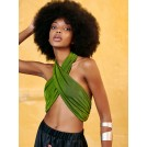 RAHIL TOP GREEN | Libelloula women fashion and accessories