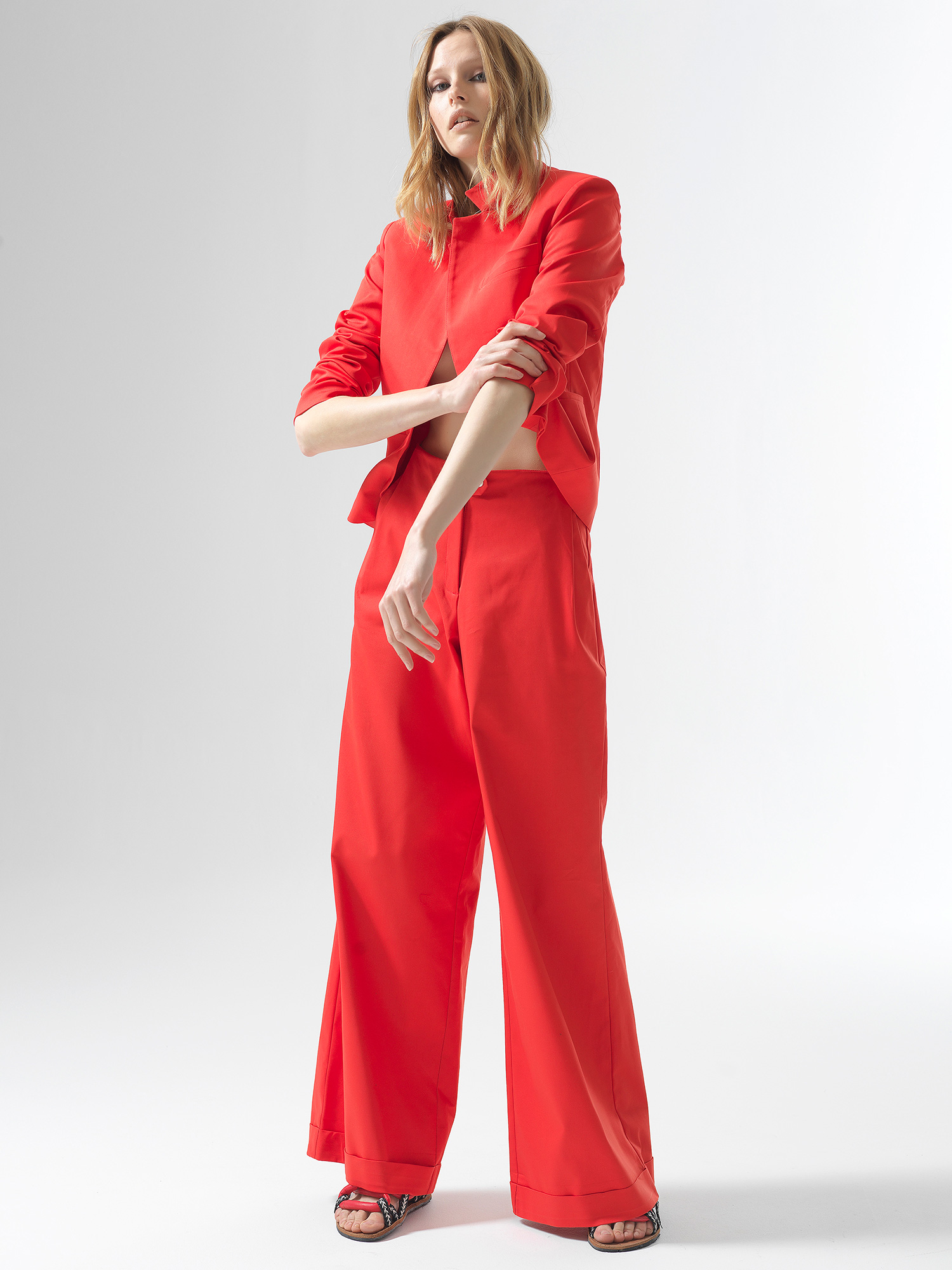 Red Roll Pants