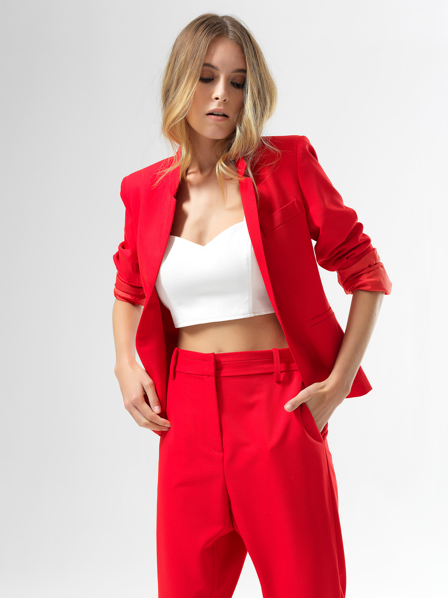 Red Roll Jacket