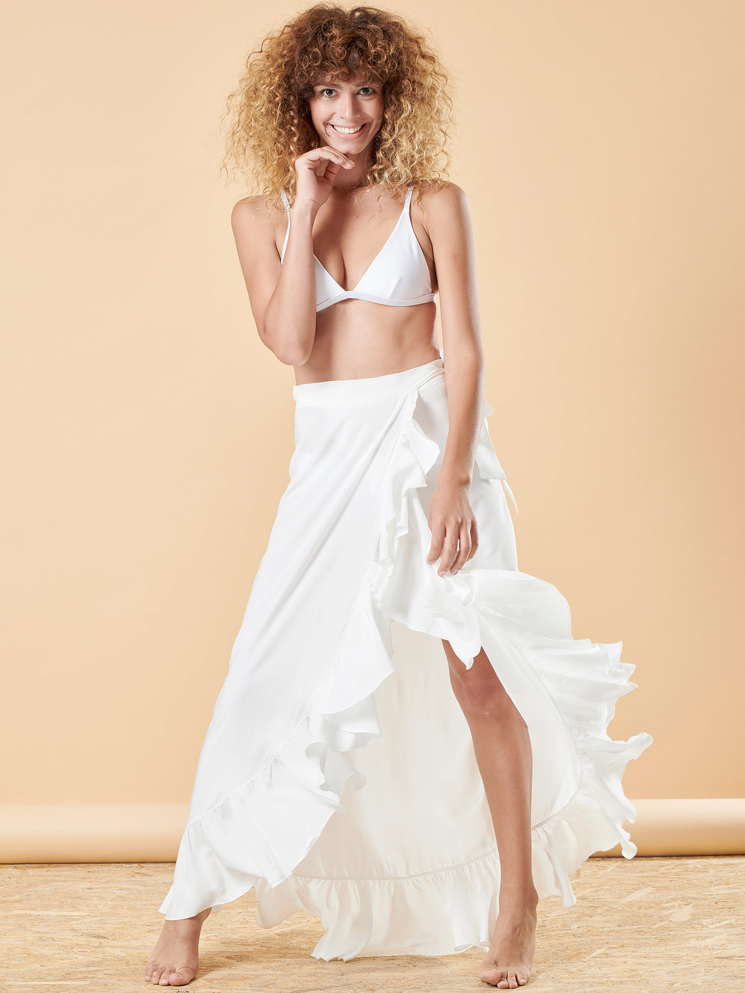 White Frabala Skirt